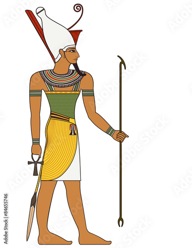 Fotografia Pharaoh , egyptian ancient symbol, isolated figure of ancient egypt deities