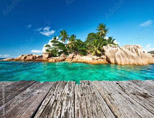 In de dag Tropical strand Beautiful tropical island