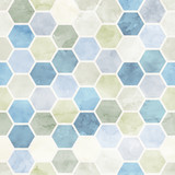 Watercolor Honeycomb  seamless pattern.Vector background - 84663348