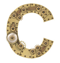 Steampunk Alphabet Letter C