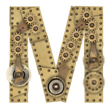 Steampunk Alphabet Letter M