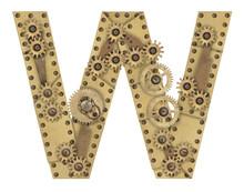Steampunk Alphabet Letter W
