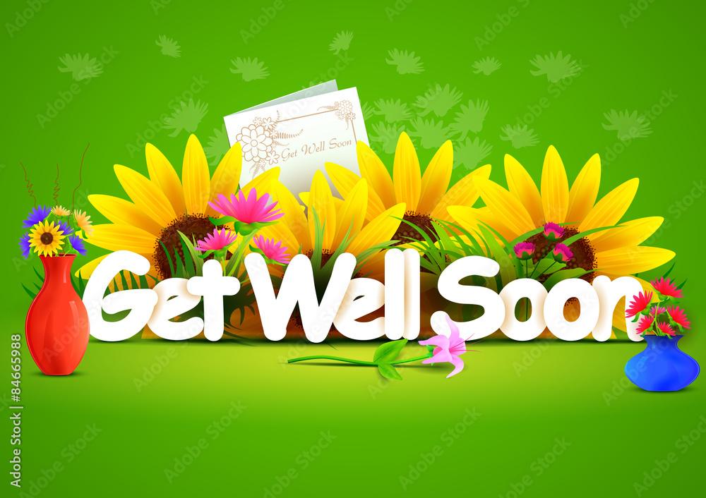 Поздравительной открытки, открытка с пожеланием скорейшего выздоровления на английском