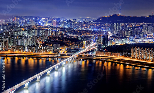 Photo  Seoul at night, South Korea