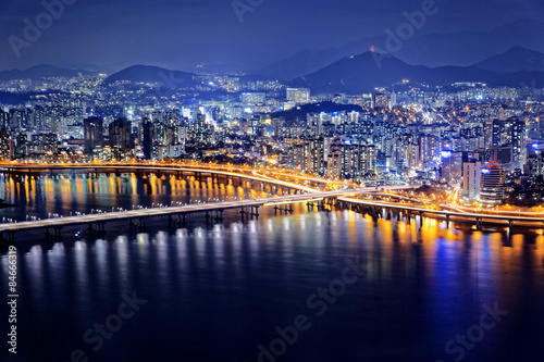 Foto op Plexiglas Seoel Seoul at night, South Korea