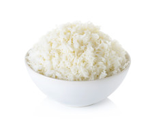 Rice With Bowl Isolated On The...