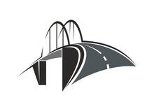 Arch Bridge And Road Icon