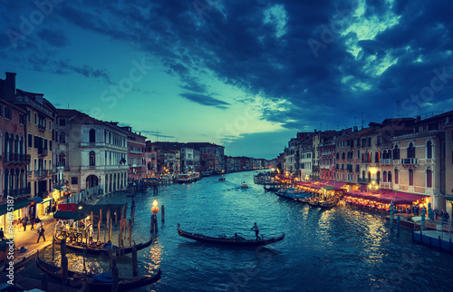 Cadres-photo bureau Venise Grand Canal in sunset time, Venice, Italy