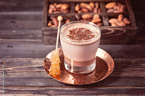 Foto op Canvas Chocolade Cocoa drink from grated cocoa. Bio organic product