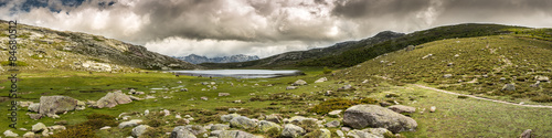 Fotografie, Obraz  Panoramic view across Lac De Nino in Corsica