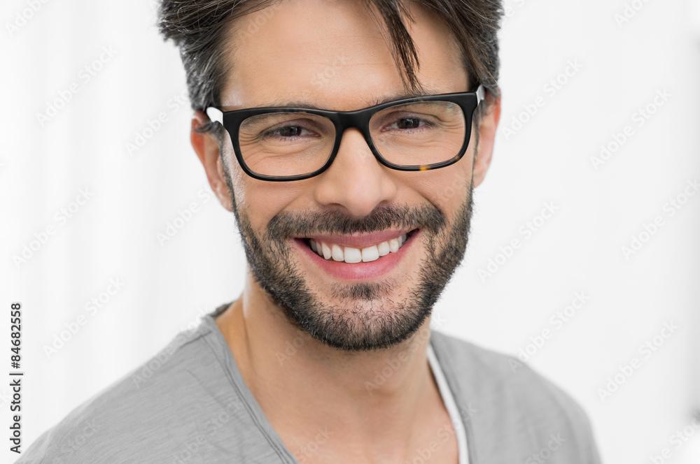 Fototapeta Happy man wearing eyeglasses
