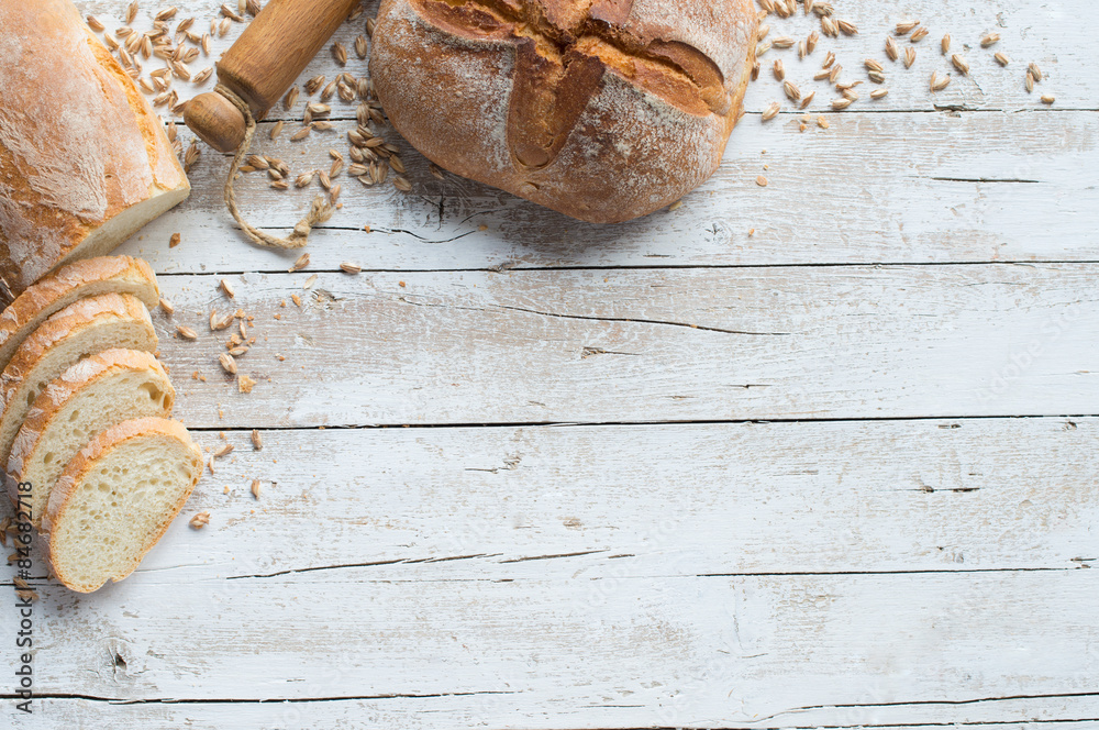 Bread and bakery background
