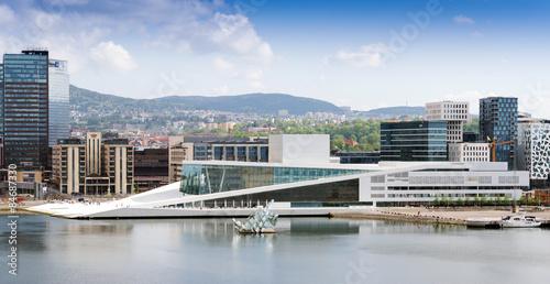 he Oslo Opera House is the home of The Norwegian National Opera Canvas Print