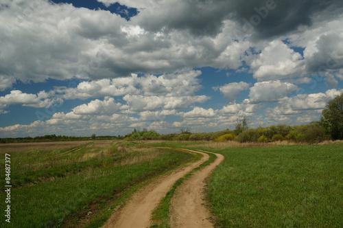 Foto op Aluminium Purper грунтовая дорога