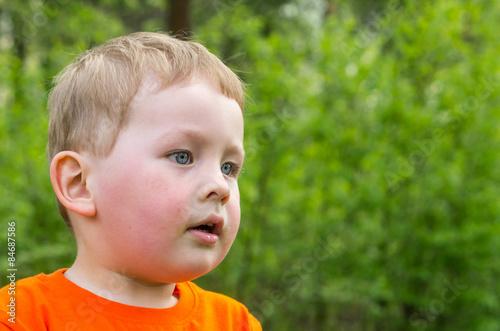 boy in park Canvas Print
