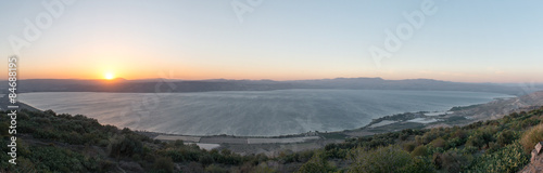 Photo Sea of Galilee and Golan Heights