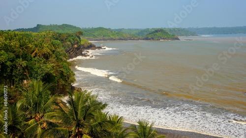 tropische Küste im Süden von Java Canvas Print