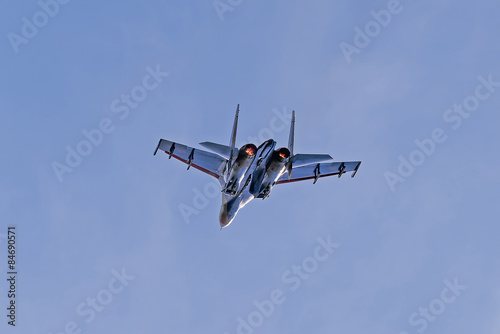 Photo  Russian aerobatic team Russian Knights performs at airshow 21