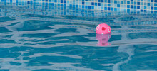 Pink Heart Ball In Pool