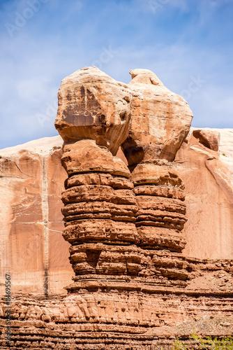 Fotografie, Obraz  hoodoo rock formations at utah national park mountains
