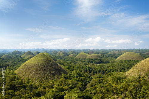 Foto auf Gartenposter Hugel Chocolate Hills in Bohol Island, Philippines.