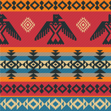 Eagles Ethnic Pattern On Nativ...