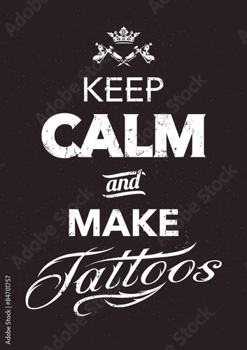 Photo Make Tattoo Typography