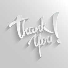 Thank You Lettering Greeting C...