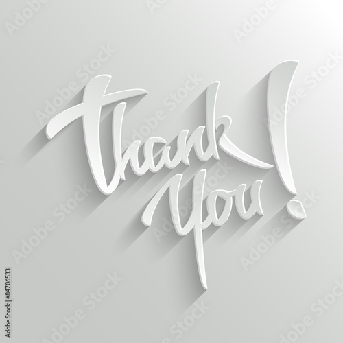 Fotografía  Thank You lettering Greeting Card