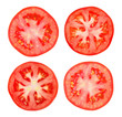 canvas print picture - Tomato slice isolated on white background