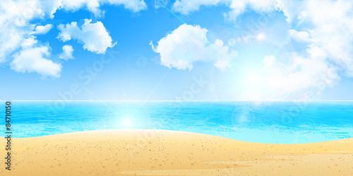 Fototapeta 海 砂浜 背景 obraz