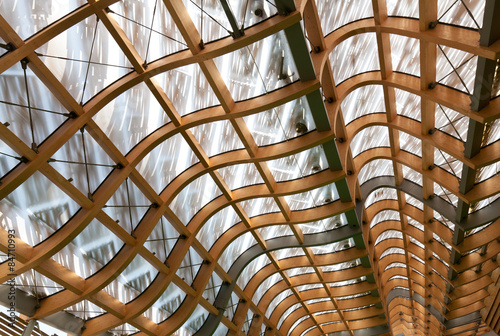 Fotomural roof structure