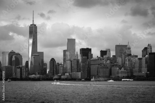 Photo  New York City Skyline Black and White