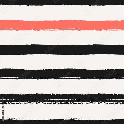 Cotton fabric Hand Drawn Stripes Seamless Pattern