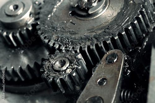 Fotografía  Lubricated gears of vehicular transmission