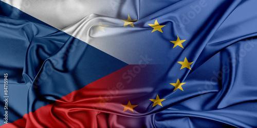 European Union and Czech Republic. Poster