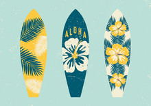 Tropical Design Surfboards Set