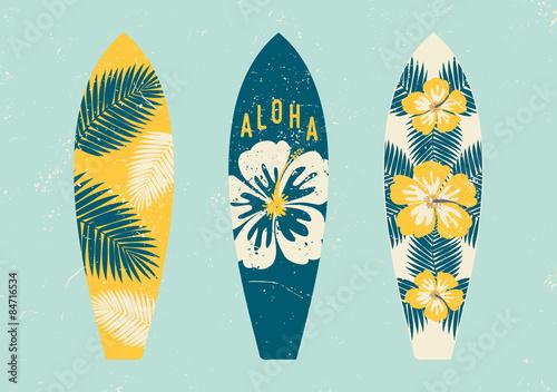Photo Tropical Design Surfboards Set