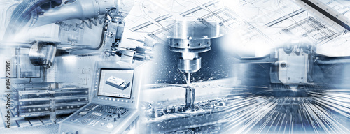 Fototapeta Produktionsschritte in der Industrie obraz