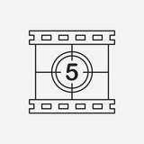 Fototapeta Sport - video tape line icon