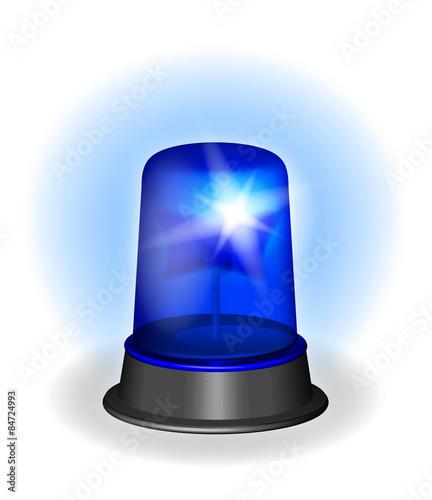 Gyrophare police lumière bleu alerte Canvas Print