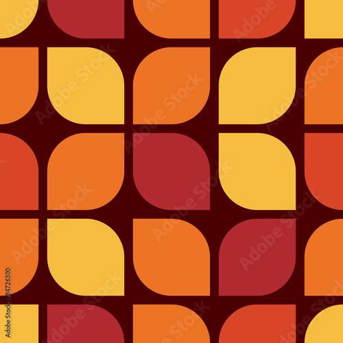 Seamless geometric vintage wallpaper vector illustration Poster Mural XXL