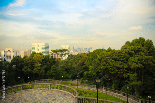 Photo  View from mount Faber of the business and financial center.