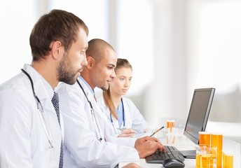 Laboratory, Computer, Doctor.