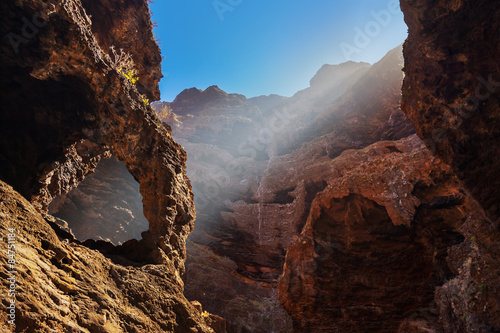 Photo Stands Canyon Famous canyon Masca at Tenerife - Canary