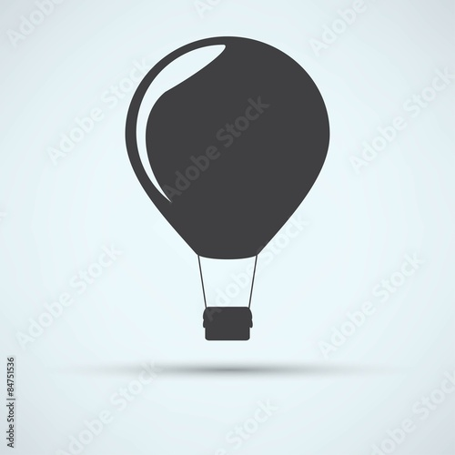 hot air balloon icon Wallpaper Mural