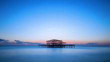 The West Pier Of Brighton After Sunset, England, UK