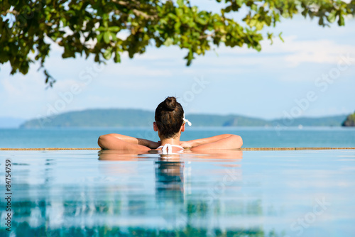 Garden Poster Relaxation Summer relax and vacation in Thailand