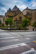 Bellfield Presbyterian Church And 5th Avenue, In Pittsburgh, Pen