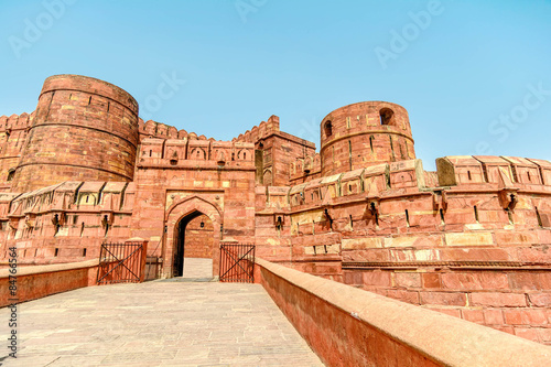 Stampa su Tela Agra Fort, Agra, Uttar Pradesh, India